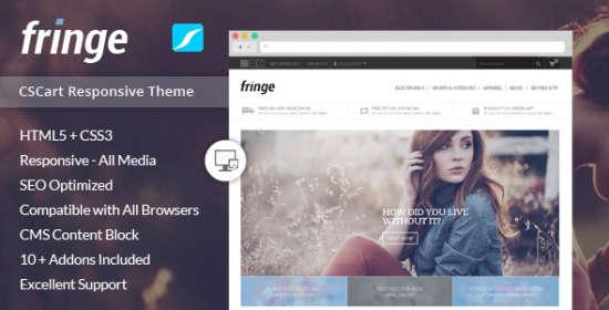 fringe responsive cscart theme