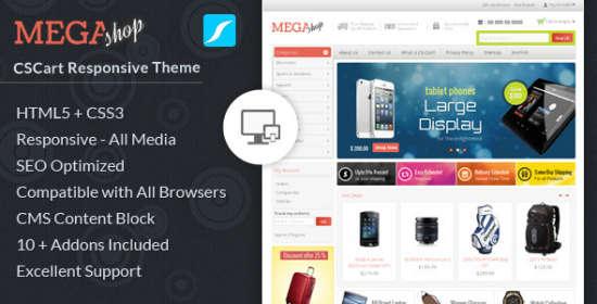 mega shop cscart responsive theme