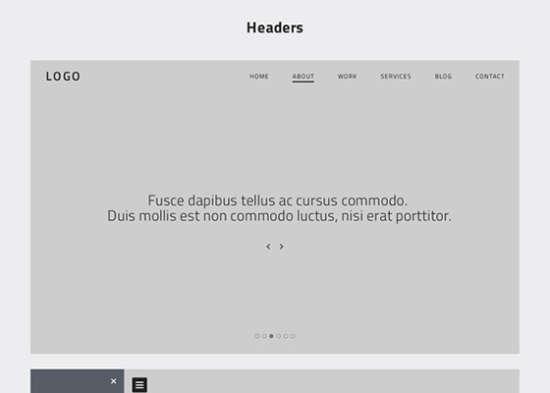 onepage website wireframes