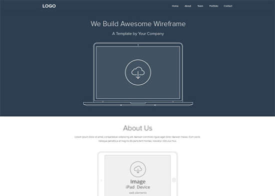 web wireframe layout psd