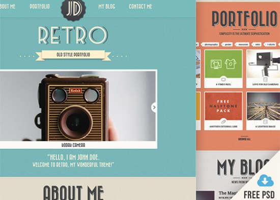 retro portfolio