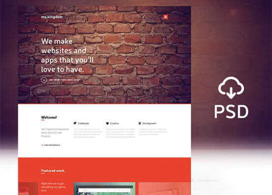 my.kingdom one page psd template