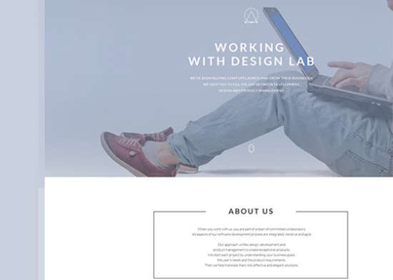 free psd website landing page