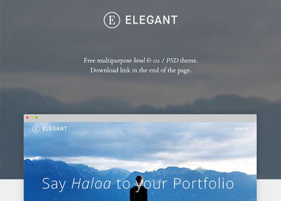 elegant free html psd portfolio template