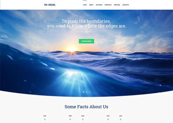 aqual free website template