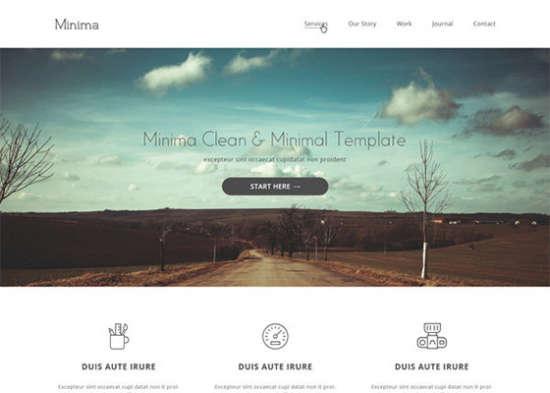minima psd website template
