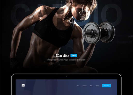 'cardio one page website template
