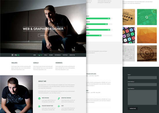 focal resume psd template