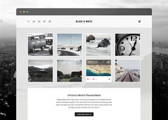 black white free psd template