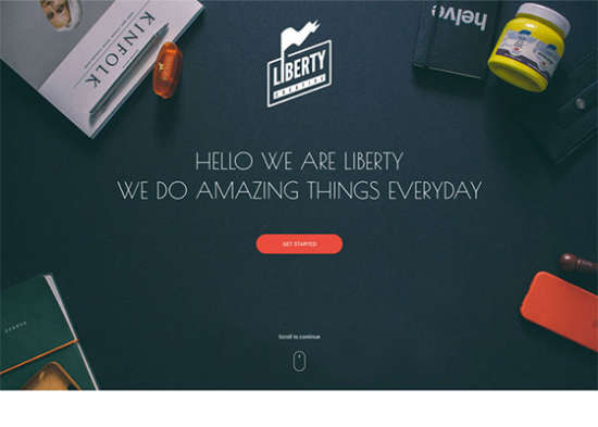 liberty one web page template