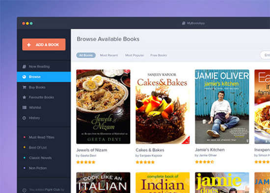 book app template