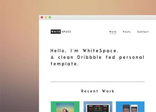 whitespace theme