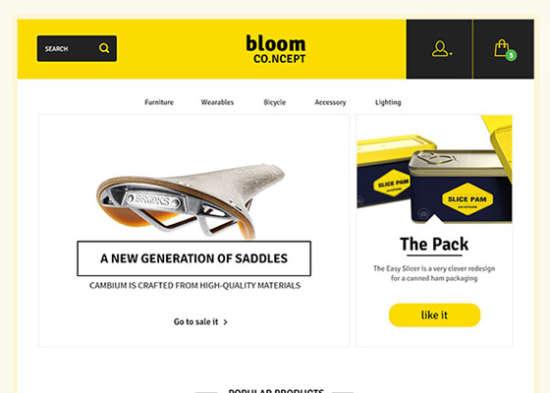 bloom e-commerce theme concept