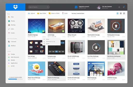 dropbox_redesign_dashboard_admin_ui_psd