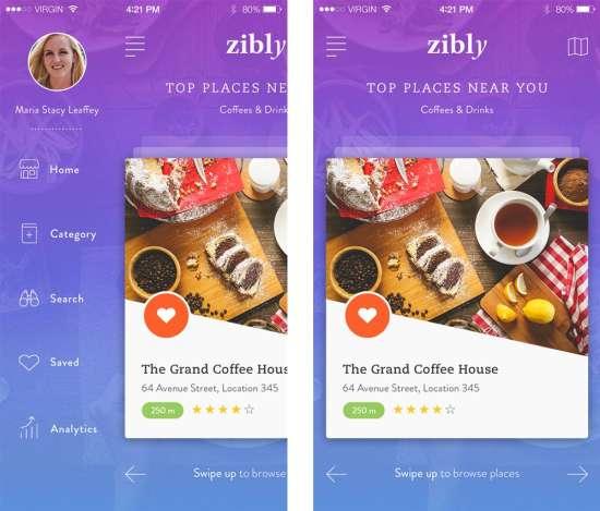 zibly_food_discovery_app_ui_psd