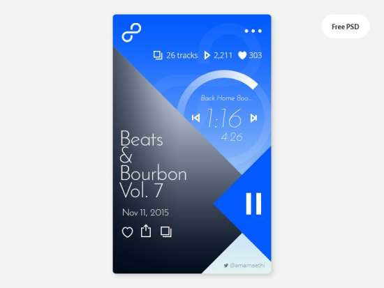 free_music_app_psd