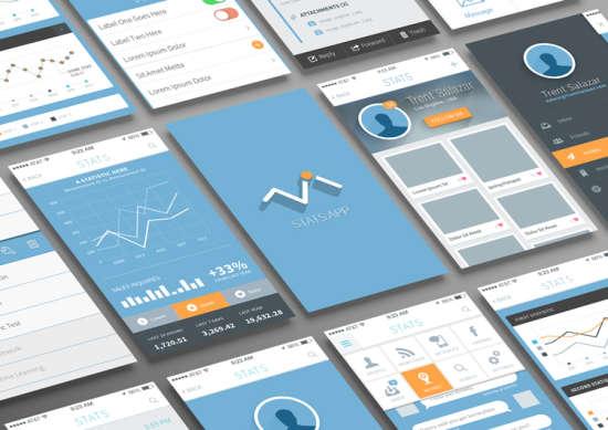 free_statistics_and_analysis_app_ui_psd
