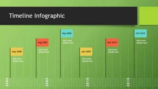 Widescreen Timeline PowerPoint Slides