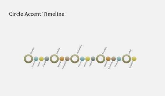 Event timeline diagram slide widescreen