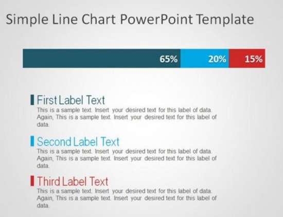 Simple Line Chart PowerPoint Template