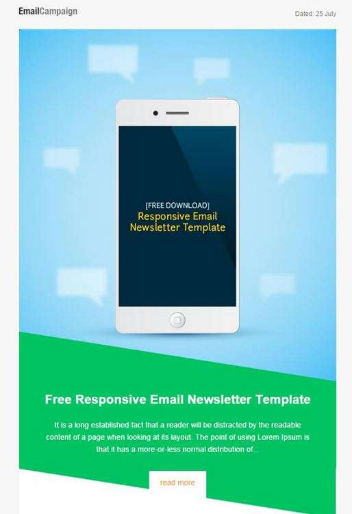 Responsive Email Marketing Template
