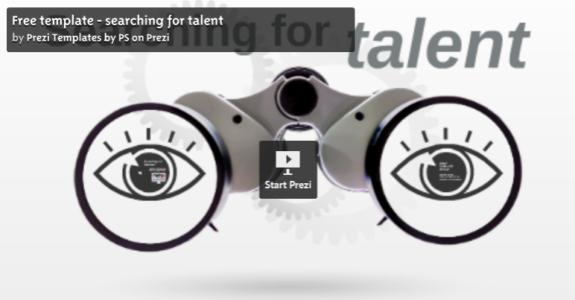 Searching for talent Prezi