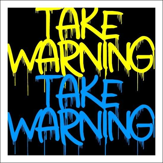 take_warning_font