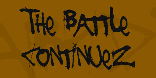 the_battle_continuez_font