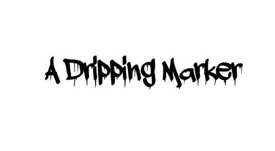 a_dripping_marker_font
