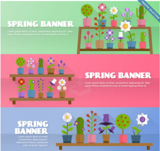 flowery_spring_banners_banner_template