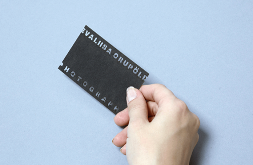 documentary photographer business card