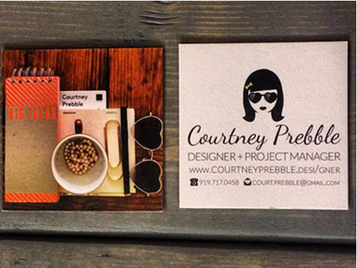 Logo Business Card by Courtney Prebble
