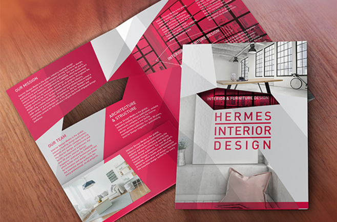 30 creative and modern brochure designs ginva for Interior design brochures