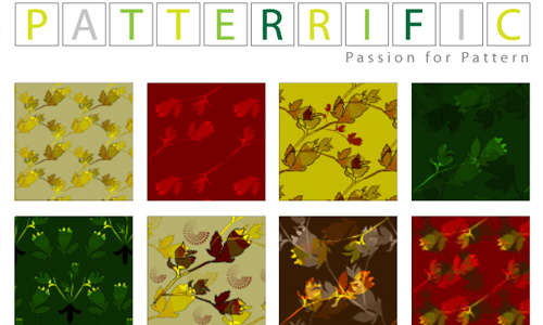 seamless_pixel_patterns_red_yellow_green_leaves