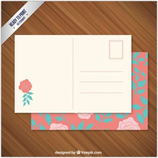 floral_post_card_free_vector