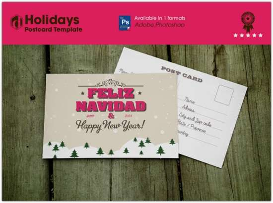 free_holidays_postcard_template