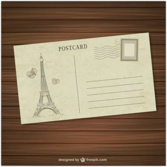 paris_postcard_free_vector