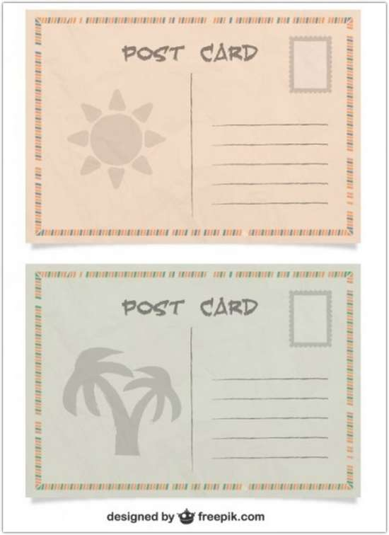 summer_post_cards_free_vector