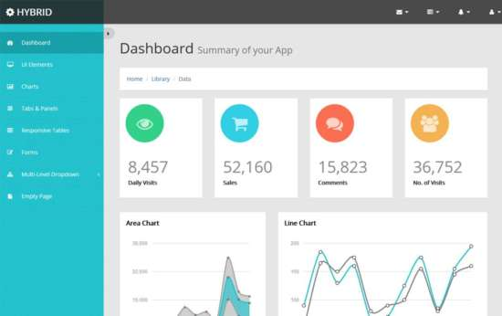 free_hybrid_bootstrap_admin_template