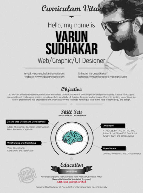 22 creative cv curriculum vitae that will your mind