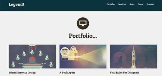 Portfolio bootstrap templates 5 free attractive design ginva for Free bootstrap portfolio templates