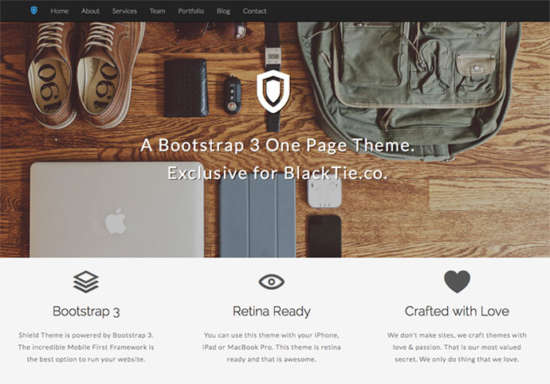 shield_bootstrap_portfolio_template