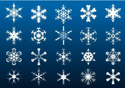 Blue Snowflakes Brushes