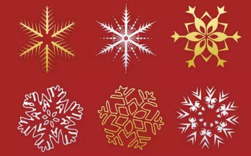 30 Christmas snowflakes