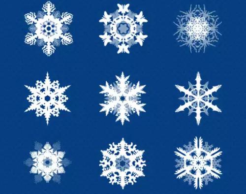 21 Snowflakes PSD Set