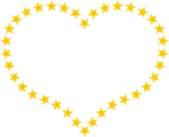 pixabella_heart_shaped_border_with_yellow_stars
