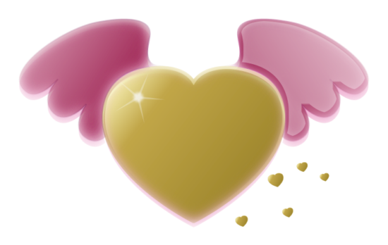 pixabella_gold_heart_with_pink_wings