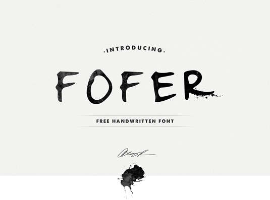 fofer_handwriting_font
