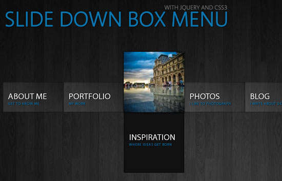 slide_down_box_menu_with_jquery_and_css3