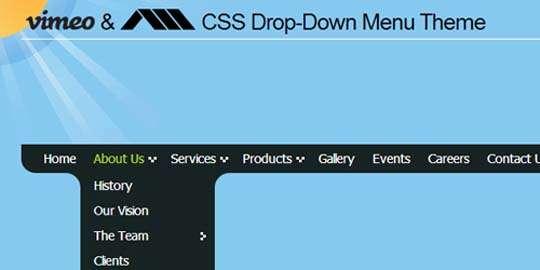 vimeo_style_dropdown_menu